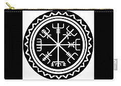 Carry-all Pouch featuring the digital art Viking Vegvisir Compass by Vagabond Folk Art - Virginia Vivier