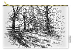 Villa Road At Sunset Carry-all Pouch