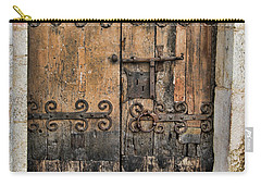 Village Chateau French Old Ancient Door Color  Carry-all Pouch
