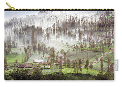 Village Covered With Mist Carry-all Pouch