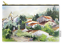 Village Life 5 Carry-all Pouch by Rae Andrews