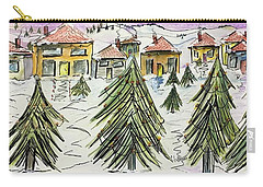 Village Winter Wonderland Carry-all Pouch