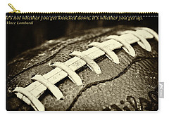 Vince Lombardi Quote Carry-all Pouch by David Patterson