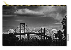 Carry-all Pouch featuring the photograph Vincent Thomas Bridge by Joseph Hollingsworth