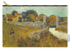 Carry-all Pouch featuring the painting Vincent Van Gogh, Farmhouse In Provence by Artistic Panda