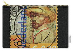 Vincent Van Gogh On A Postage Stamp Carry-all Pouch by Patricia Hofmeester