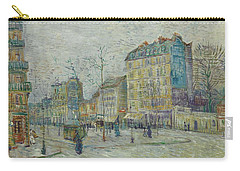 Carry-all Pouch featuring the painting Vincent Van Gogh  The Boulevard De Clichy, Paris by Artistic Panda