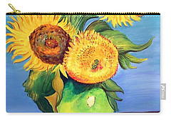 Vincent's Sunflowers Carry-all Pouch by Patricia Piffath