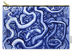 Vines Of Blue Carry-all Pouch