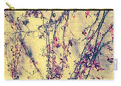 Vines On Yellow Wall Abstract Carry-all Pouch by Tony Grider