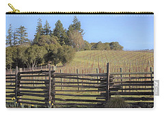Vineyard In The Spring Carry-all Pouch