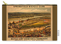 Carry-all Pouch featuring the photograph Vintage 1883 Springfield Bicycle Club Poster by John Stephens