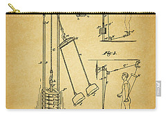 Vintage 1885 Exercising Device Patent Carry-all Pouch by Dan Sproul