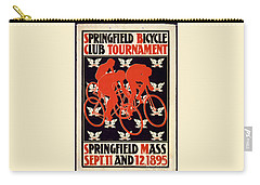 Vintage 1895 Springfield Bicycle Club Poster Carry-all Pouch by John Stephens