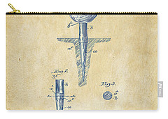 Carry-all Pouch featuring the digital art Vintage 1899 Golf Tee Patent Artwork by Nikki Marie Smith