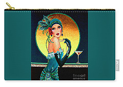 Vintage 1920s Fashion Girl  Carry-all Pouch