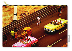 Vintage American Cars In Havana  Carry-all Pouch
