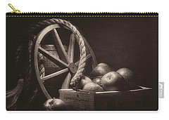 Carry-all Pouch featuring the photograph Vintage Apple Basket Still Life by Tom Mc Nemar