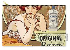 Vintage Art Nouveau Bechers Original Bitter 1807 Carry-all Pouch
