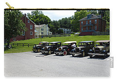 Carry-all Pouch featuring the photograph Vintage Auto Display by Donald C Morgan