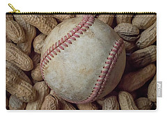 Carry-all Pouch featuring the photograph Vintage Baseball And Peanuts Square by Terry DeLuco