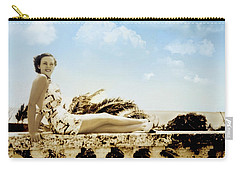 Vintage Beach Beauty Carry-all Pouch