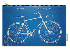 Carry-all Pouch featuring the digital art Vintage Bicycle Patent Artwork 1894 by Nikki Marie Smith