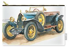 Vintage Blue Bugatti Classic Car Carry-all Pouch