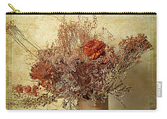 Carry-all Pouch featuring the photograph Vintage Bouquet by Jessica Jenney