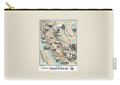 Vintage California Map Carry-all Pouch