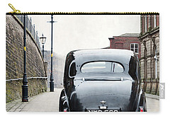 Vintage Car On A Cobbled Street Carry-all Pouch by Lee Avison