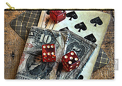Vintage Cards Dice And Cash Carry-all Pouch