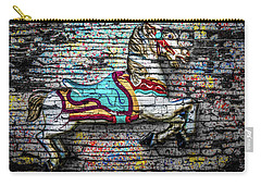 Carry-all Pouch featuring the photograph Vintage Carousel Horse by Michael Arend