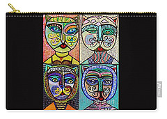 Vintage Cat Ladies Carry-all Pouch by Sandra Silberzweig