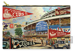 Vintage Chicago Cubs Carry-all Pouch by Steven Parker