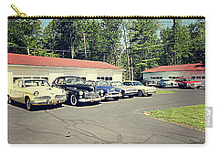 Carry-all Pouch featuring the photograph Vintage Classic Cars by Trina Ansel
