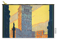 Vintage Cleveland Travel Poster Carry-all Pouch by George Pedro