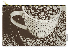 Carry-all Pouch featuring the photograph Vintage Coffee Art. Stimulant by Jorgo Photography - Wall Art Gallery