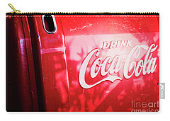 Carry-all Pouch featuring the photograph Vintage Coke Ice Chest by Ella Kaye Dickey