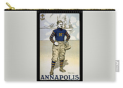 Vintage College Football Annapolis Carry-all Pouch by Pd