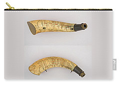 Carry-all Pouch featuring the photograph Vintage 1767 Colonial American Powder Horn Four Views by John Stephens