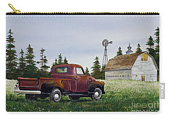Carry-all Pouch featuring the painting Vintage Country Pickup by James Williamson