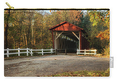 Carry-all Pouch featuring the photograph Vintage Covered Bridge by Dale Kincaid