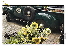 Vintage Flower Truck-nantucket Carry-all Pouch