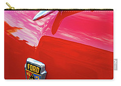 Carry-all Pouch featuring the photograph Vintage Ford Hood Ornament Havana Cuba by Charles Harden