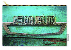 Vintage Ford Truck Logo  Carry-all Pouch by Terry DeLuco