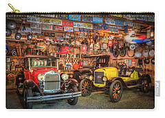 Carry-all Pouch featuring the photograph Vintage Fords Collectibles by Debra and Dave Vanderlaan