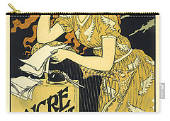 Vintage French Advertising Art Nouveau Encre L'marquet Carry-all Pouch