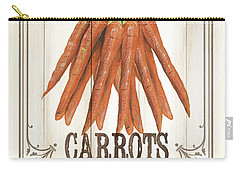 Vintage Fresh Vegetables 3 Carry-all Pouch by Debbie DeWitt