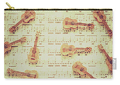 Vintage Guitar Music Carry-all Pouch